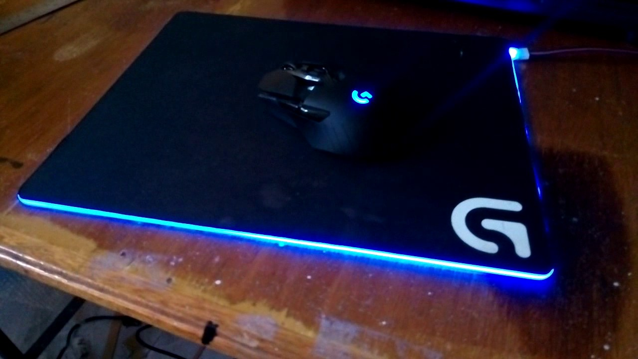🐭 Modded Logitech G240 cloth gaming mouse pad   RGB mouse pad