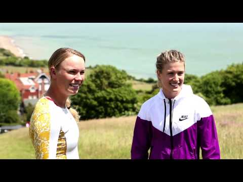The sights of Eastbourne with Genie Bouchard & Caroline Wozniacki