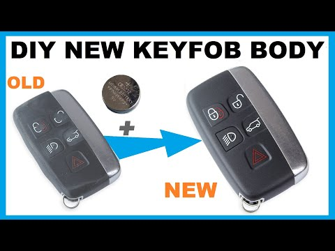 How To Fit New Body / Shell to Land Rover Keyfob Remote Using Genuine Parts to fix repair