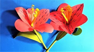 Paper flower stick : How to make beautiful paper flower stick | paper hibiscus flowers making