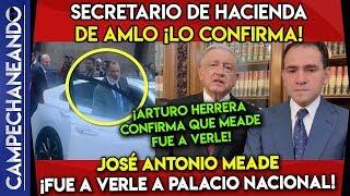 ¡HACE UNOS MOMENTOS! SECRETARIO DE AMLO CONFIRMA REUNIÓN CON MEADE