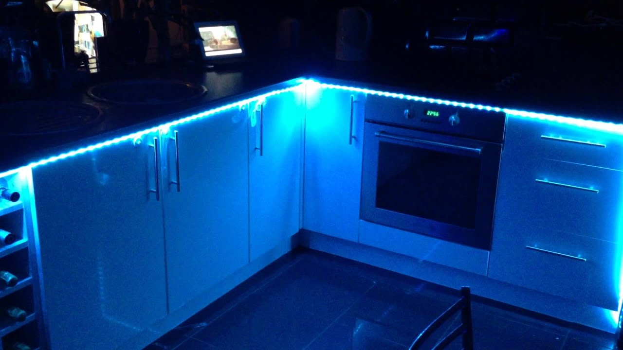 LED lights kitchen disco party tunes music