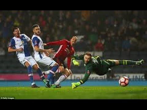 Blackburn Rovers vs Manchester United  Highlights 19/02/2017