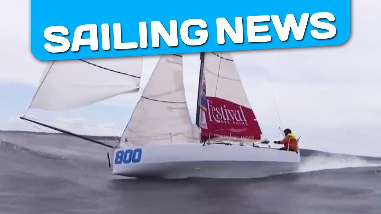 Mini 6.50 are flying! Amazing surfs! - YouTube