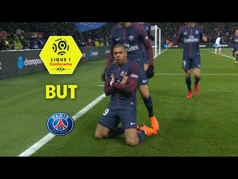But Kylian MBAPPE (10') / Paris Saint-Germain - Olympique de Marseille (3-0)  / 2017-18