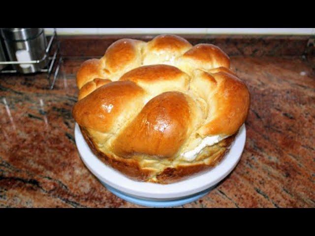 Плетена питка с масло и сирене, лесна за оформяне