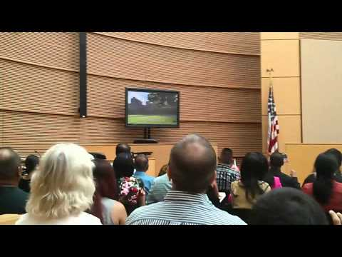 People becoming US Citizens Ceremony on June 5, 2015 in Phoenix Arizona