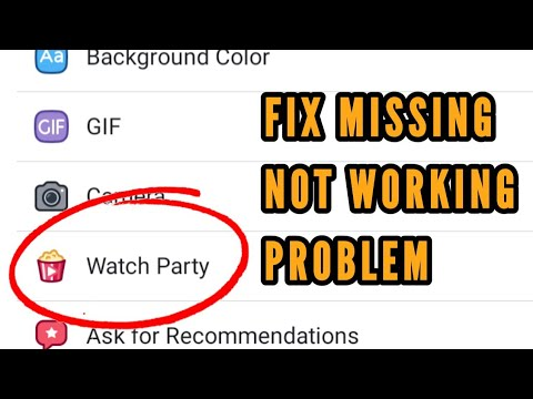 Facebook Watch Party Option Missing || Not Working Problem Solved