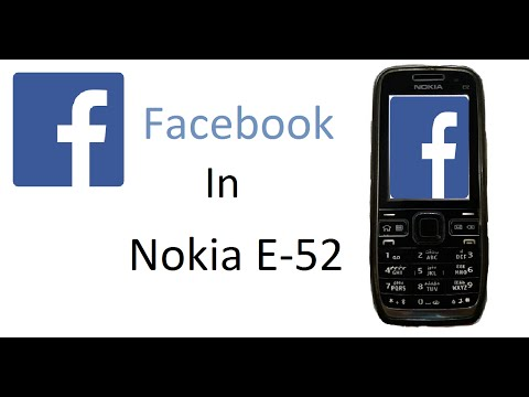 How To Use Facebook In Nokia E-52 |Full Review|