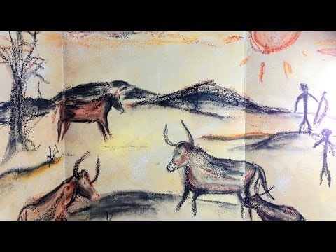 Prehistoric Cave Painting - Mixed Media Art Project for Kids