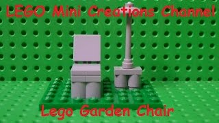 Tutorial - How To Make A Design Lego Garden Chair And Garden Table