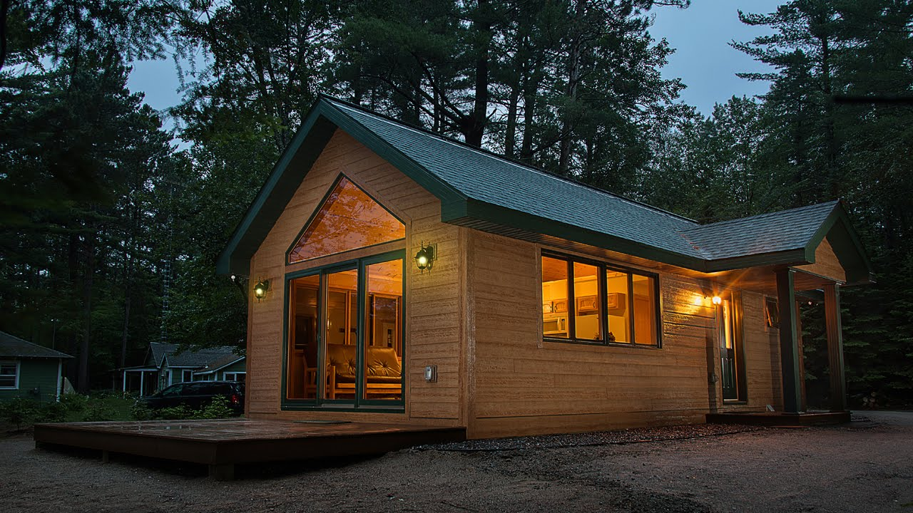Tiny cabin by dickinson homes youtube Tiny cabin