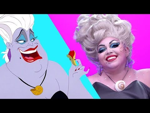 The Little Mermaid Ursula Makeup Transformation | Disney