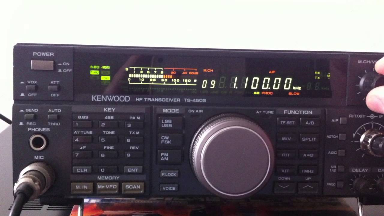 Kenwood TS 450S (0-30 MHz all mode transceiver)