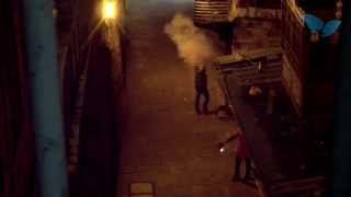Arab Rioters Firing Fireworks at Jewish Houses in the Old City of Jerusalem