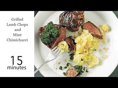 How to Grill Lamb Chops and Mint Chimichurri | MyRecipes