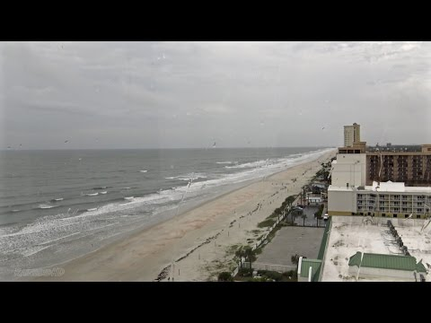 Heavy Rain Sounds during Hurricane Hermine | Tropical Cyclone Beach Sunrise