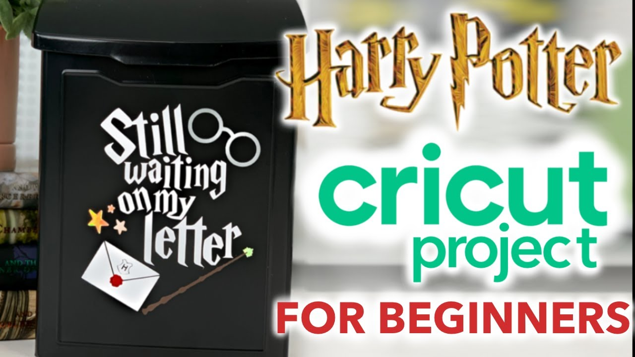CRICUT ⚡️ HARRY POTTER Craft Project w/ StarCraft HD Permanent Vinyl | Cricut Tutorial for Beginners