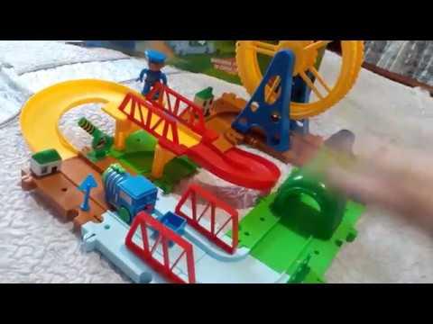 Распаковка железной дороги Qi Yue Объемная А, В (2109А,В) из Rozetka.com.uа