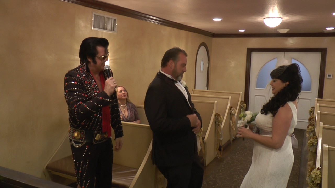 Pete Sherrie Graceland Wedding Chapel Las Vegas