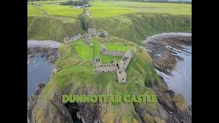 Dunnottar Castle stonehaven Aberdeenshire Scotland 4k Footage
