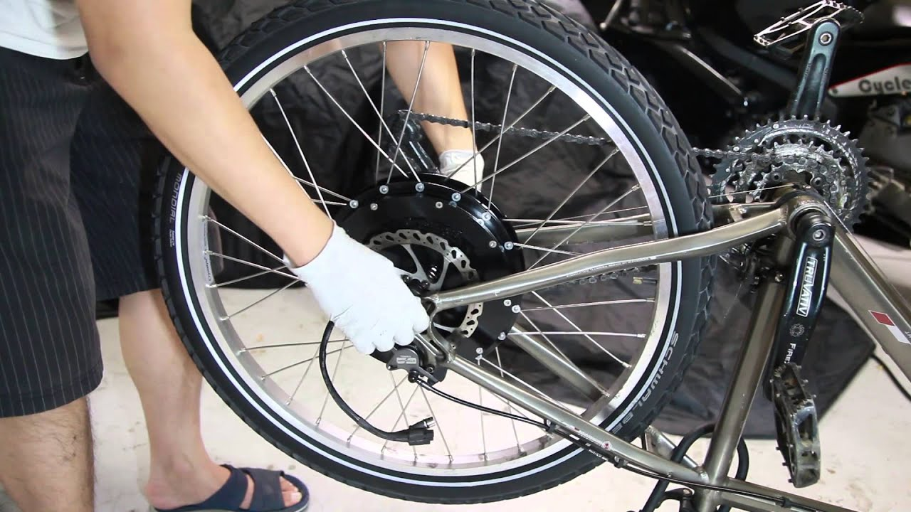 How to install an electric bike hub motor kit phoenix ii for Bicycles with electric motors
