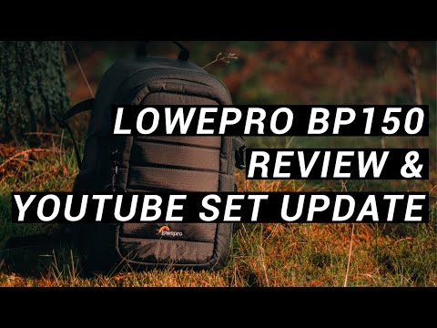 Lighting for the set + is the Lowepro BP150 the best Vlogger Backpack