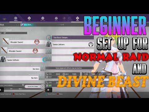 Sword Art Online Alicization Lycoris Beginner Set UP For Divine Beast And Normal Raids |