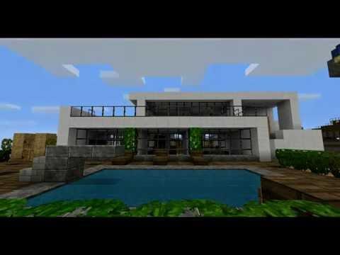 Minecraft modern haus hd download link youtube for Minecraft haus modern