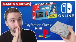 PLAYSTATION CLASSIC MINI (avec 20 jeux), PACK FORTNITE-SWITCH & NINTENDO ONLINE !