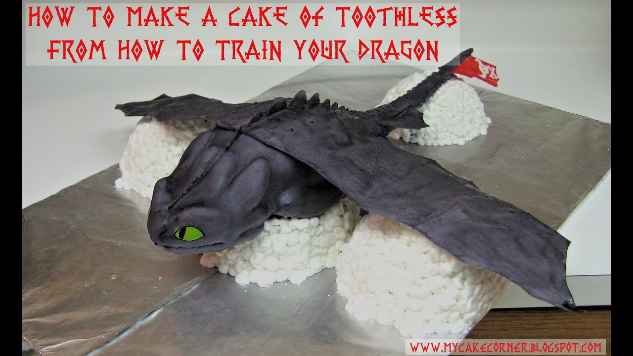 How to Make a Cake of Toothless from How to Train Your Dragon YouTube