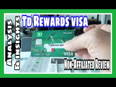 TD Rewards Visa  | Non-Affiliated | Unboxing & Review | Canadian Personal Finance