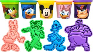 Mickey Mouse Clubhouse Characters Play-Doh Molds & Toys Mickey Minnie Donald Pete Goofy