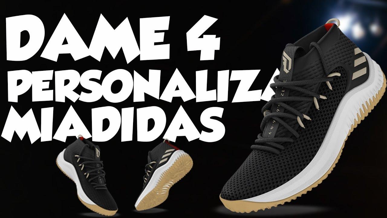 zapatos genuinos estilo de moda nueva apariencia Unboxing - Tênis ADIDAS DAME 4 Personalizado MIADIDAS - Dicas de Tênis #55
