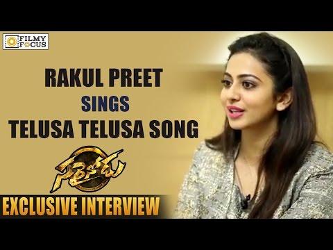 """Rakul Preet Singh Sings """"Telusa Telusa Song"""" Unplugged - Saraindou Song - Filmyfocus"""