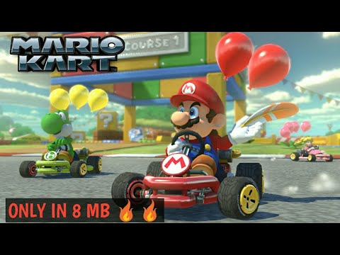 HOW TO DOWNLOAD MARIO KART FOR ANDROID(APK + DATA) ONLY IN 8 MB(GAMEPLAY PROOF)