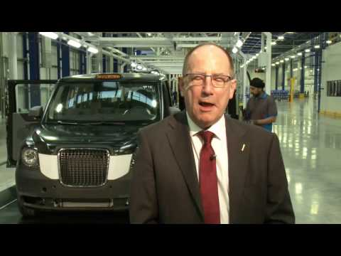 Electric black cab plant opens in Coventry