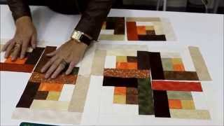 Repeat youtube video Patchwork Sem Segredos com Ana Cosentino: Aula 18 (Log Cabin)