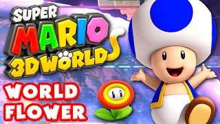 Super Mario 3D World - World Flower 100% (Nintendo Wii U Gameplay Walkthrough)