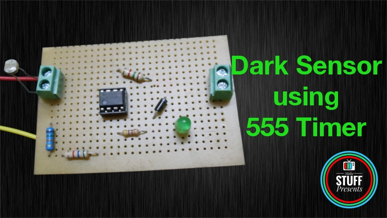 how to make a simple dark sensor using 555 timer circuit diagram how to make a [ 1280 x 720 Pixel ]