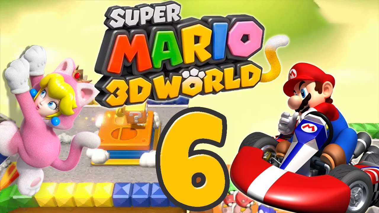 let 39 s play super mario 3d world part 6 mario kart d youtube. Black Bedroom Furniture Sets. Home Design Ideas
