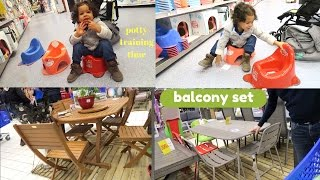VLOG: POTTY TRAINING TIME || BUYING BALCONY FURNITURE|| AM NOT IN JAMAICA BUT...
