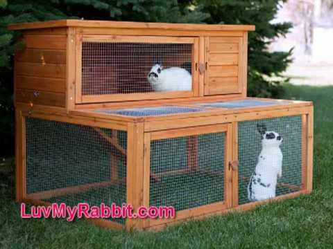 rabbit outdoor cages and hutches youtube. Black Bedroom Furniture Sets. Home Design Ideas
