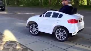 Carro Elétrico BMW X6 12V Bateria c/ Comando Branco