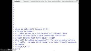 كيفية إنشاء البيانات في إطار R