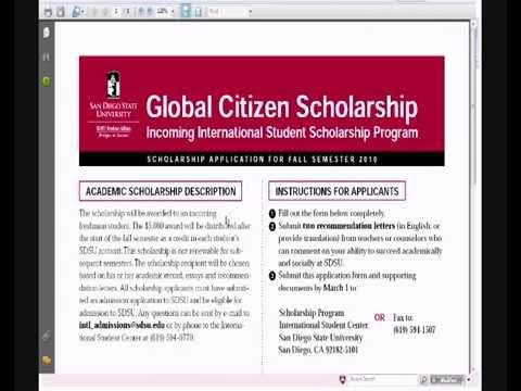 SDSU International Scholarships