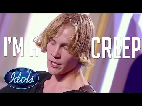 KURT COBAIN Meets TOM YORKE... Creep Radiohead Acoustic Guitar Cover Audition | Idols Global