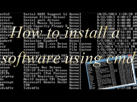 How to install a software using CMD(command promt)