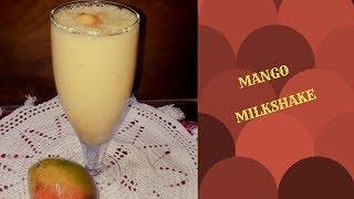 MANGO MILKSHAKE IN BENGALI || HOW TO MAKE MANGO MILKSHAKE IN BENGALI || मेंगो मिल्कशेक