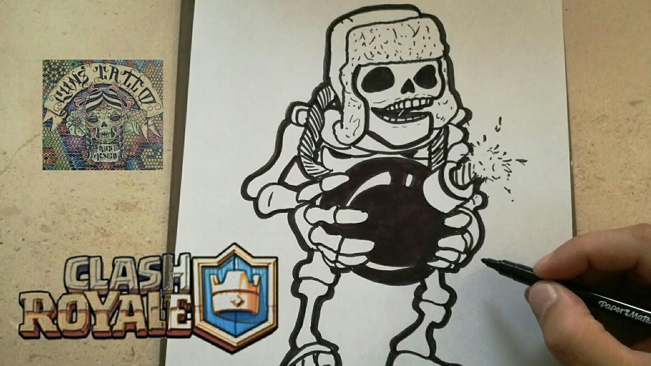 Dibujos Para Dibujar De Clash Royale: COMO DIBUJAR AL ESQUELETO GIGANTE